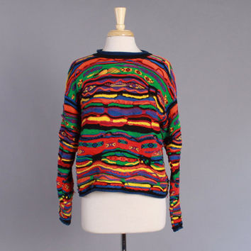 90s Women's COOGI SWEATER Authentic Vintage / Iconic 1990s Cotton Jumper L