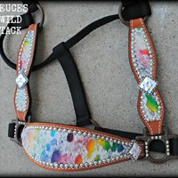 Rainbow Hair On Hide Halter