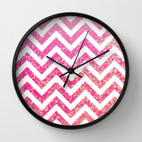 Pixie Dust Chevron Wall Clock by M Studio