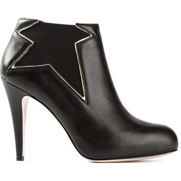 Red Valentino stitched star ankle boots