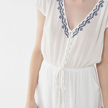 UO Boho Embroidered Romper | Urban Outfitters