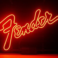 New Fender Real Glass Neon Light Sign Home Beer Bar Pub Recreation Room Game Room Windows Garage Wall Sign L74 by AOOS