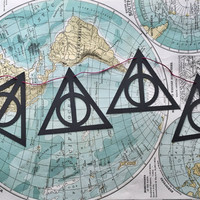 Deathly Hallows Banner // harry potter, deathly hallows, tale of the three brothers, hogwarts, dorm decor