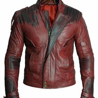 BNH Guardians of The Galaxy 2 Star Lord Leather Jacket: Amazon.ca: Clothing & Accessories