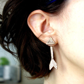 Double Sided Bronze Arrow Studs