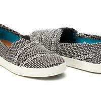 BLACK MOROCCAN TILE WOMEN'S AVALON SLIP-ONS