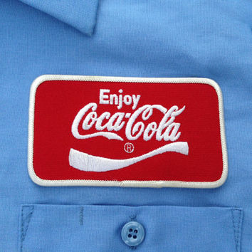 Coca Cola Work Shirt - Size Large - Add a Name Patch for FREE