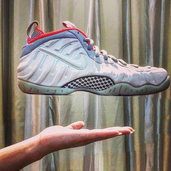 LMFON Ready Stock' Nike Air Foamposite Pro ¡°Pure Platinum¡± 616750-003