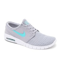 Nike SB Stefan Janoski Max Gray & Turquoise Shoes - Mens Shoes - Grey/Turq