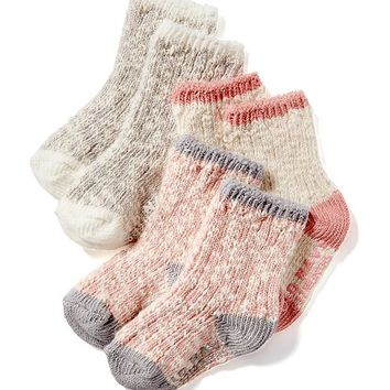 3-Pack Non-Skid Crew-Socks for Baby | Old Navy