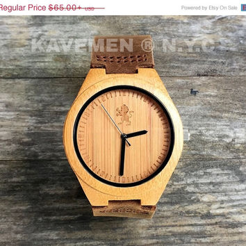 SALE Minimalist Engaved Wooden Watch, Mens Wood Watch, Engraved Watch, Groomsmen Gifts