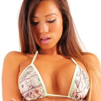 New Pole Dancers Money Print Full Triangle Bikini Top
