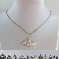 "21"" Charm necklaces metal chain necklaces 21 inches long with your choice of charm many to choose from"
