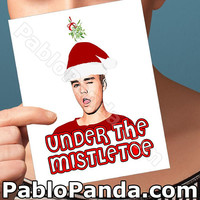 Holiday Cards | Belieber | Justin Bieber Happy Holidays Husband Christmas Boyfriend Card Girlfriend Card Boyfriend Gift Husband Gift Funny