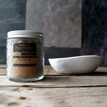 S.DS: Salt of the Earth, Dead Sea Salt Soap Scrub Scented and Unscented Available