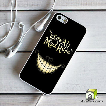 Alice In Wonderland We're All Mad Here iPhone 5|5S case by Avallen