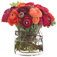Some of you have to get in on this: Ranunculus with Glass Cylinder