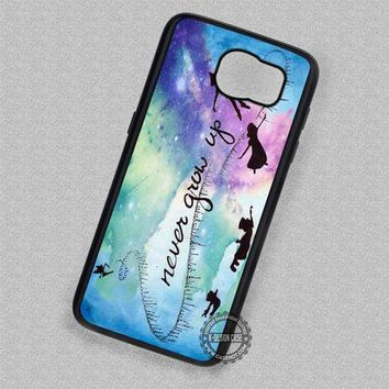 Peter Pan Never Grow Up Watercolor Disney - Samsung Galaxy S7 S6 S5 Note 5 Cases & Covers