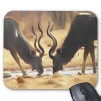 African Antelope Painted Impalas Mouse Pad