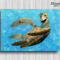 sea turtle print finding dory decor nautical favors turtle art