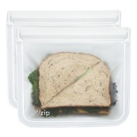 (re)zip Lay-Flat Lunch Leakproof Reusable Storage Bag 2-Pack (Clear)