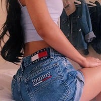 Tommy Jeans Women High Waist Denim Shorts
