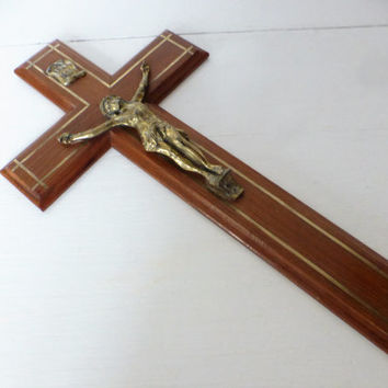 Vintage French, Wall Crucifix