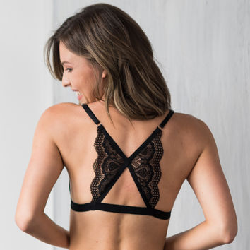 Lace Back Front Closure Bralette