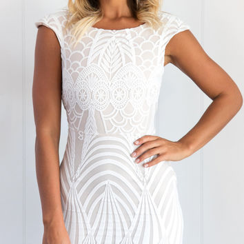 SHED A LIGHT DRESS (WHITE)