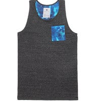 On The Byas Gavin Print Tank Top - Mens Tee - Gray -