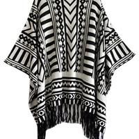 Tribal Pattern Fall Fashion Cape