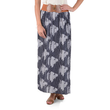 Journee Collection Women's Pleated Printed Maxi Skirt | Overstock.com Shopping - The Best Deals on Long Skirts