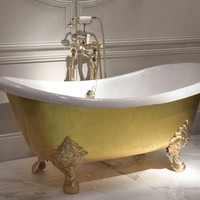 Gold leaf bathtub MIDA by Devon&Devon