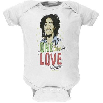DCCKIS3 Bob Marley - One Love White Baby One Piece