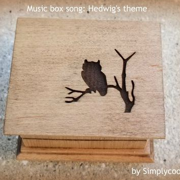 Harry Potter music box, Harry Potter gift, Hedwig's theme, Hedwig's theme music box, music box, last minute gift, birthday, Simplycoolgifts