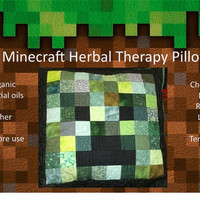 Minecraft Herbal Therapy Pillow-Large
