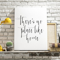 There's no place like home - Wizard of Oz quote Dorothy Gale typography quote poster inspirational quote print wall art. Home Typography