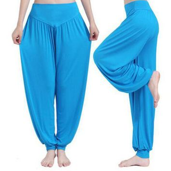 [13139] Super Soft Modal Spandex Harem Yoga Pilates Pants