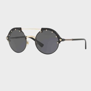 Oval Aviator Sunglasses by Versace