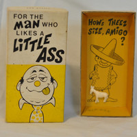Vintage Gag Gift For The Man Who Likes a Little Ass, Humor Funny Retro Donkey 1970s Franco-American