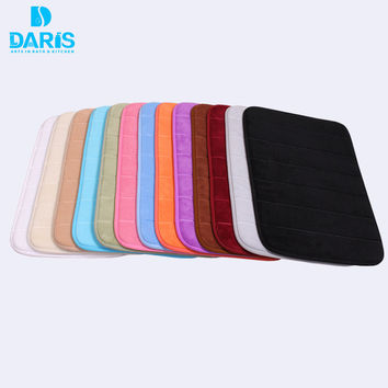 Memory Foam Bath Mats Stripes Rug Non-slip Bathroom Mats Coral Fleece Mat Doormat Carpet Cotton 40x60cm 50x80cm 60x90cm