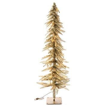 4 champagne accent tree with lights shop hobby lobby - Christmas Trees At Hobby Lobby