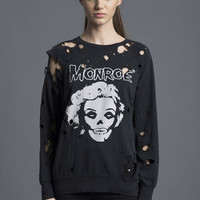Monroe Destroyed Sweatshirt