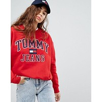 Tommy Hilfiger 90s Capsule Fashion Casual Logo Sweatshirt Top Sweater Pullover G