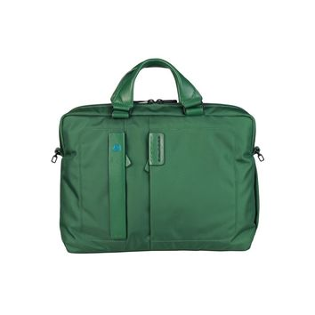 Unisex Emerald Green Piquadro Briefcase/Bag/Handbag
