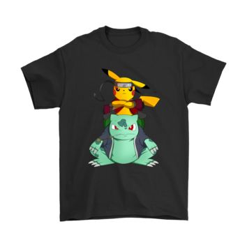 DCKG6Q Pokemon Pikachu And Bulbasaur Mashup Naruto Jiraiya Shirts