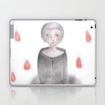 Rain queen Laptop & iPad Skin by Natalia Lampropoulou