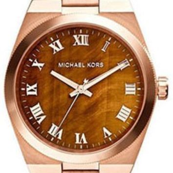 Michael Kors Channing Tigers Eye Dial Rose Gold-plated Rose gold-tone