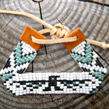 Eagle Loom Beaded Bracelet Native Pattern
