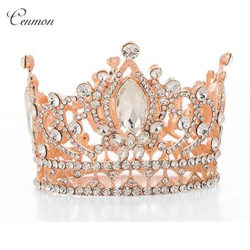 Luxury Wedding Jewelry Hair Accessories Bridal Crown Tiara Crystal Queen King tiaras royal Princess Headdress ornament Diadem